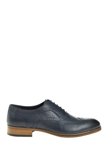 Daffari %100 Deri Oxford Ayakkabı Lacivert